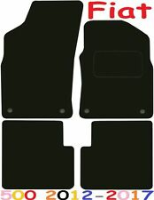 Tailored Deluxe Quality Car Mats Fiat 500 2012-2017 ** Black **