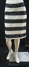 The LIMITED lace straight Skirt knee pencil sexy cream black skirt Size 12 NEW