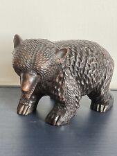 Vintage Japanese Ainu Black Forest Bear Hand Carved Wood