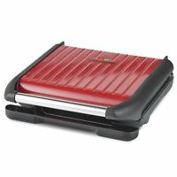 George Foreman 25050 7 Portion Entertaining Grill - Non-Stick & Easy Clean - Red