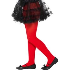 Childs Fancy Dress Opaque Tights Orange Girls Tights 6-12 Years by Smiffys New