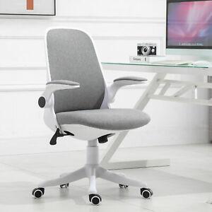 Vinsetto Office Chair Breathable Fabric Rocker with Liftable Armrest Home Office