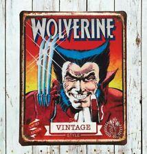 Wolverine tin sign, Marvel, Marvel pins, Movie poster, Marvel sign, Wall signs