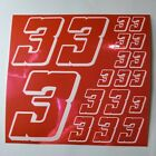 PINK CHROME w/White #3's Decal Sticker Sheet DEFECTS  1/8-1/10-1/12 RC Mo BoxD