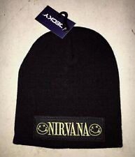 NIRVANA  LICENSED BEANIE SKULL CAP  ROCK  NEW! t-shirt PUNK