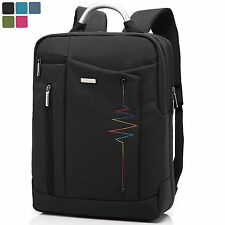 15.6 Inch Laptop Backpack Notebook Bag Nylon Rucksack Shoulder Bag HandBag-Black