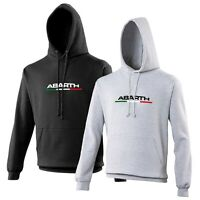 Fiat Abarth Hoodie VARIOUS SIZES & COLOURS Fiat 500 Abarth Car Enthusiast