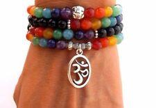 108 Onyx & Chakra Beads Buddhist Prayer Beads -Mala Spiritual Healing, Balance