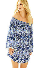 Lilly Pulitzer Bright Navy Tons Of Fun Cover Up Dress XXS New