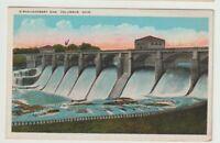 1929 Postmarked Postcard O'Shaughnessy Dam Columbus Ohio OH