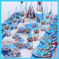 Superhero Avengers Birthday Party Supplies Filler Bag Tableware Plates Cup Decor