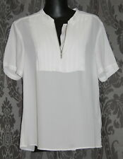 Womens size 8 white sheer blouse made by ASOS