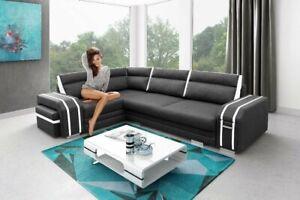 Corner Sofa Bed AVATAR Corner Storage Footrest Pouffe Cabinet 6 colours