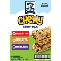 Quaker Chewy Granola Bars, Variety Pack, 58 Bars