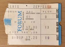 1973 5/31 Led Zeppelin Los Angeles Concert Ticket Stub Robert Plant Jimmy Page