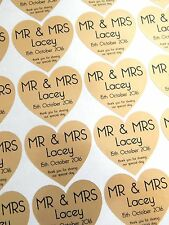 28 Personalised Mr & Mrs Stickers Thank You..Special Day Wedding Sticker - Gold