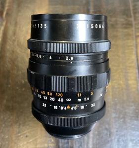 Pentacon 135mm f/2.8 M42 Preset lens 15 blades Black Version Rare Super Clean!!