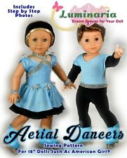 """American Girl Doll Dress Clothes Pattern 18"""" Doll Blaire PDF Ice Skating Dance"""
