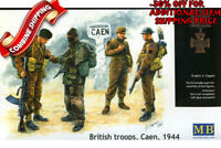 Master Box 3512 WWII British Troops Caen 1944 (4 Figures) plastic model kit 1/35