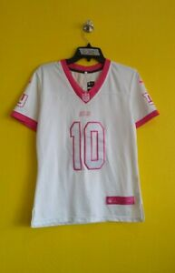 NEW YORK GIANTS #10 ELI MANNING NIKE NFL JERSEY WOMENS - L ( STAINED!! )