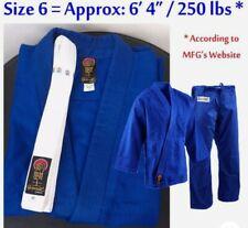 "ProForce Gladiator Judo Gi Uniform Adult Size 6 - 6'4""/250 lbs Blue Nwt Sku 7956"