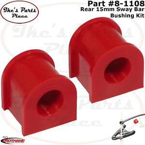 Prothane 8-1108 Red 15 mm Rear Sway Bar Bushing Kit