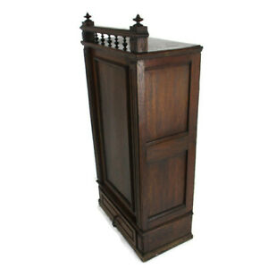 Large Kitchen Apothecary Medicine Bathroom Cabinet Spindles Gorgeous Vintage WOW