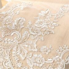 Embroidered Tulle Curtains Windows Sheer Drapes Splice Mesh Fabric Curtain Decor
