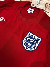 WORLD CUP ENGLAND FOOTBALL TEAM MENS T SHIRT CREW NECK RED COLOUR SIZE M OR 36