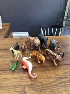 Plastic Animal Figure Bundle Wild Animals, Insects, Zoo Animals