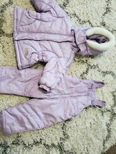 12 Mo Winter Coat And Bibs Baby Toddler Girl Snow Suit Pants Great cond. Twins?