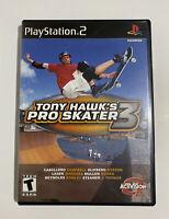 Tony Hawk's Pro Skater 3 (2001) - PS2 - Sony PlayStation 2 - Case & Manual