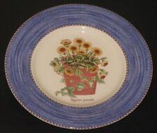 "~2 Wedgwood Sarah's Garden Queen's Ware BLUE 8 1/4"" Floral Salad Plates 1997~"