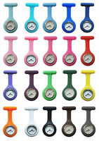New 20 Colors 1Pcs Fashion Silicone Brooch Tunic Fob Pocket Nurse Watch