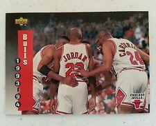 Michael Jordan 1993-94 in Center of Upper Deck #213 Team Schedule nice Card(HS)