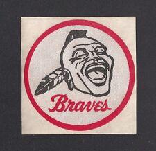 "1960's Milwaukee BRAVES decal old logo 3"" vintage NL original"