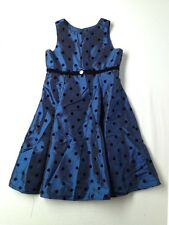 Girl Perfectly Dress Blue Polka Dot Special Occasion Party Holiday Dress Size 8