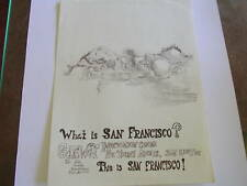 Vintage WHAT IS SAN FRANCISCO? Poster for THE GATEWAY