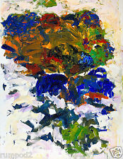 Vintage Abstract Painting/Poster/Wild Colors/17x22/Colorful Abstract