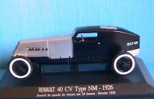 RENAULT 40CV TYPE NM 1926 RECORD MONDE VITESSE SUR 24 HEURES 1/43 M6 COLLECTION