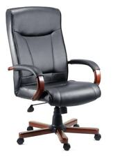 'KINGSTON' Mahogany Leather Executive Office Chair