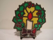 Iron and Glass Christmas Holiday Votive Candle Holder