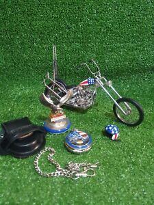 Franklin Mint 1:10 1969 Harley Davidson Easy Rider Chopper Captain America Bike