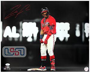 Ronald Acuna Jr. Braves Autographed Signed 16x20 Photo Photograph JSA Auth