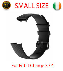 Strap Band For Fitbit Charge 3 4 Watch Replacement Silicone Buckle Black SMALL