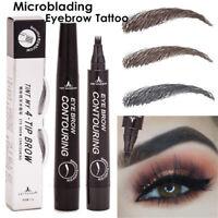 4 Head Fork Tip Dye Tint Pencil Eyebrow Tattoo Pen Liquid Brow Enhancer