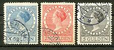 Nederland  163 - 165 gebruikt