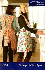 VINTAGE V-NECK APRON SEWING PATTERN, From Indygo Junction NEW