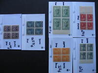 Canada better old HV blocks of 4 MH/MNH in 6 sales cards, worth checking out!