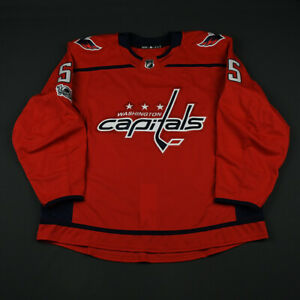 2017-18 Aaron Ness Washington Capitals Game Issued ADIDAS Hockey Jersey NHL